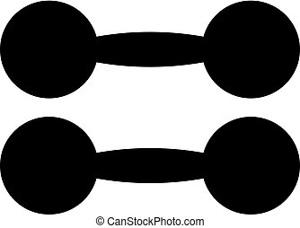 Old style dumbbells vector icon