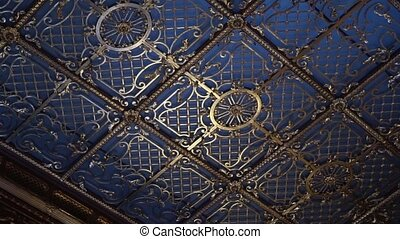 Old style glass roof ceiling