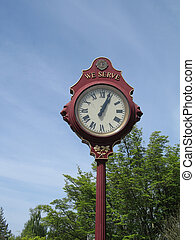 old style outdoor clock