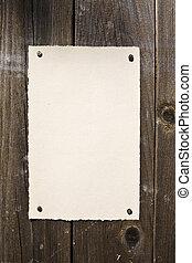 old-style, papel, en, marrón, textura de madera