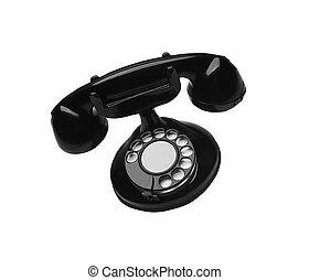 Old Style Phone isolated on white background
