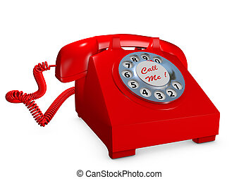 Old style red telephone