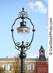 Old style street lantern in Moscow