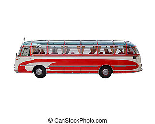 Old Style Travel Bus - Isolated old style travel bus from ...