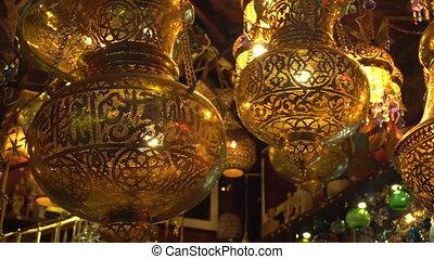Old style vintage art lamps - Old style vintage golden art...