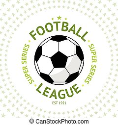 Old style vintage Football Label with ball on star background Vector