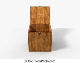 old style voting box. 3D illustration