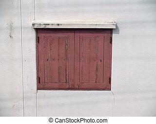 Old style wood window