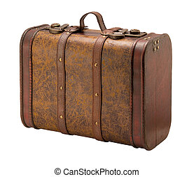 Old Suitcase - A photo of an old suitcase isolated on a...