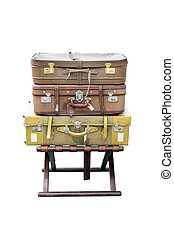 Old suitcases travel