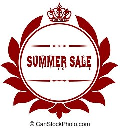 Old SUMMER SALE red seal.