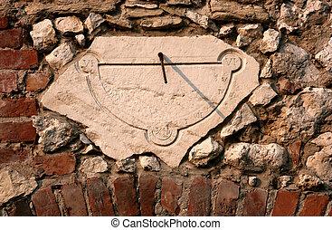 Old sundial clock