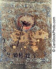 Old sundial.
