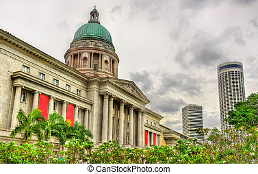 Old Supreme Court Building in Singapore. Currently it is National Art Gallery