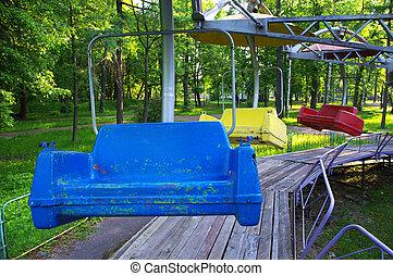 old swing in park
