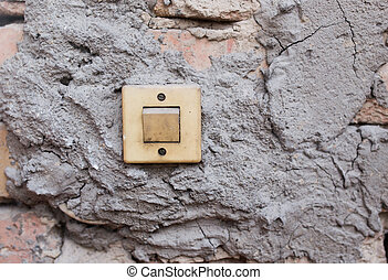 old switch on the wall