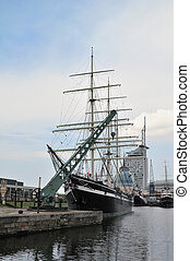 Old Tall Frigate in Bremerhaven