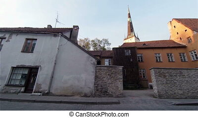 Old Tallinn. Architecture, old houses, streets and...