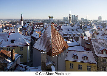 Old Tallinn in the winter