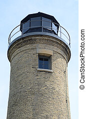 Old Tan Brick Lighthouse