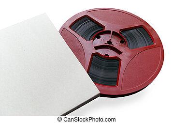 Old tape. Element of design.
