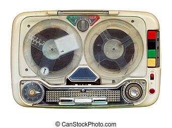 Old tape recorder - Vintage: Old mobile tape recorder
