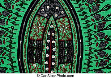 Full frame take of an old handmade fabric