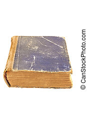 Old tattered book isolated