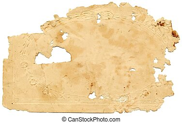Old tattered cardboard - converted into vector file