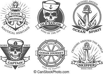 Old Tattoo Anchor Set