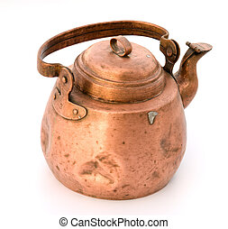 Old tea-pot from a copper.