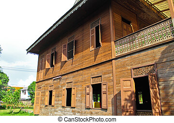 Old Teak House By Culture Thai Style