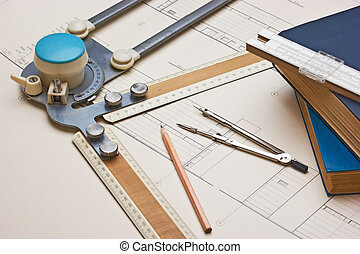 old technical drawings