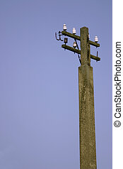 old telegraph post used to send morse code along the wires