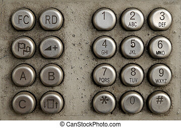 old Telephone buttons