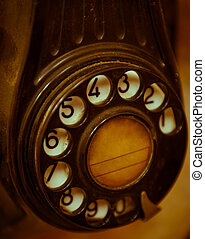 Old telephone dial