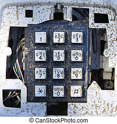 Old telephone keypad