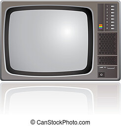 Old Television - Old fashion, colour Television, vector...