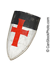 Old templar or crusader shield