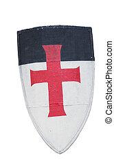 Old templar or crusader shield