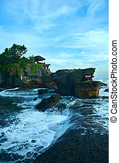Old temple Tanah Lot on south coast of island Bali in Indonesia
