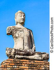 Old Temple, Wat Chaiwatthanaram Temple of Ayuthaya Province...