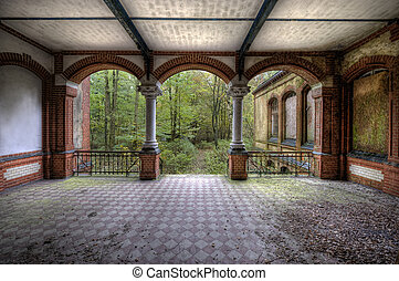 old terrace - The old hospital complex in Beelitz near...