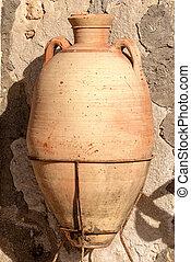 Old Terracotta Amphora - Marzamemi Sicily Italy
