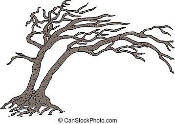 old terror tree - Creative design of old terror tree