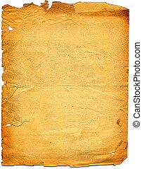 Old textured paper with tattered edge. On white. Very big image. View my other old textured paper : [url=file closeup. php?id=621649][img]file thumbview approve. php?size=1&id=621649[/img][/url] [url=file closeup. php?id=688132][img]file thumbview approve. php?size=1&id=688132[/img][/url] [url=file ...