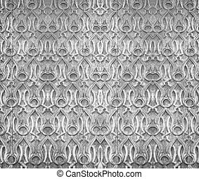 Carved wood wall background