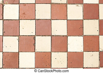 old tiles - old cracked colored tiles