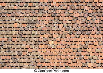 Old tiles roof