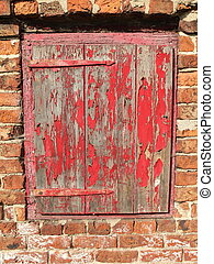 old timber and brick background
